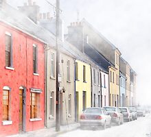 The Long Walk In Galway Ireland In  A Freezing Fog by Mark Tisdale