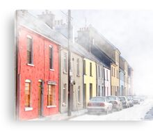The Long Walk In Galway Ireland In  A Freezing Fog Canvas Print