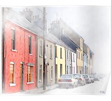 The Long Walk In Galway Ireland In  A Freezing Fog Poster