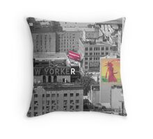 New Yorker 2 Throw Pillow