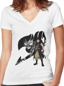 Gajeel Fairy Tail 4 Women's Fitted V-Neck T-Shirt