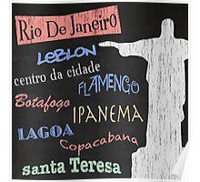 Rio de Janeiro Tourism Poster Poster