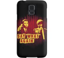 "Jules and Vincent ""Say wHat again"" Samsung Galaxy Case/Skin"