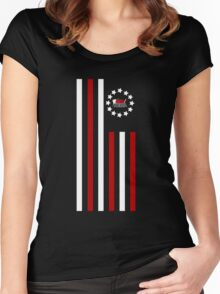 Nerd - Flag Women's Fitted Scoop T-Shirt