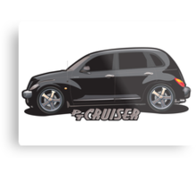 PT Cruiser - Black Metal Print