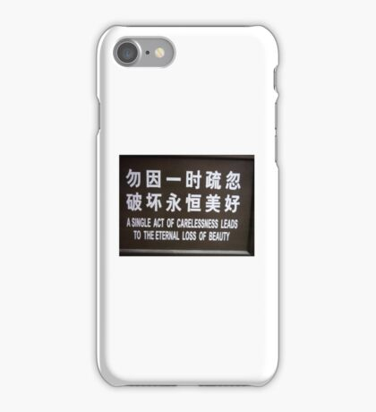 The Eternal Loss of Beauty  iPhone Case/Skin