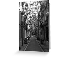 tree lined avenue Greeting Card