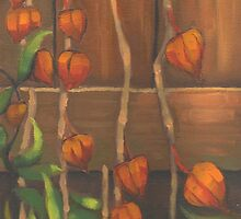 Chinese Lanterns in Fall by Kat Wright