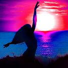 Sunset dancing by Roz McQuillan