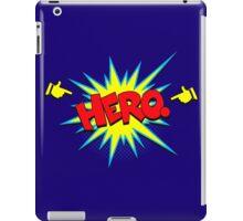 Funny Superhero comic word Hero iPad Case/Skin