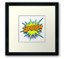 Funny Superhero comic word SNAP! Framed Print