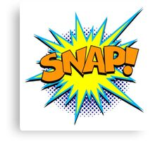 Funny Superhero comic word SNAP! Canvas Print