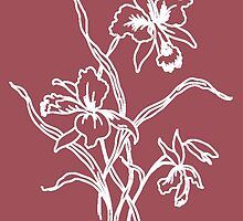 Marsala and White Floral Pattern by Greenbaby