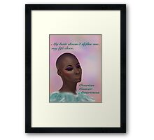 Ovarian Cancer Awareness Framed Print