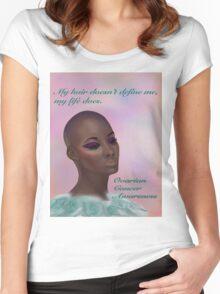 Ovarian Cancer Awareness Women's Fitted Scoop T-Shirt