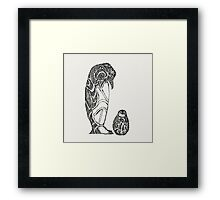 emperor penguin sketch Framed Print