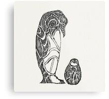 emperor penguin sketch Metal Print