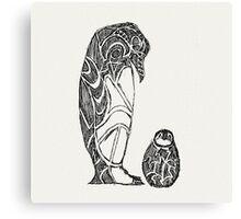 emperor penguin sketch Canvas Print
