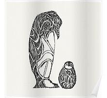 emperor penguin sketch Poster