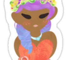 A Spring To Summer Girl Sticker