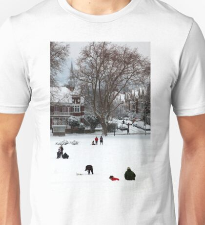 Hilly Fields Crescent in the snow Unisex T-Shirt