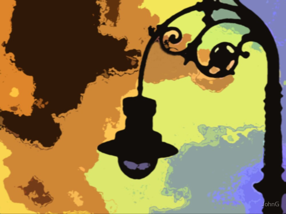 old lamp post  by JohnG