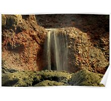 Beach Waterfall Poster