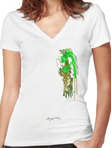 'Pia Croc' (Drag Racer Series) Women's Fitted V-Neck T-Shirt