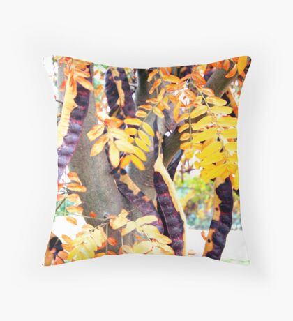 Bean Tree Throw Pillow
