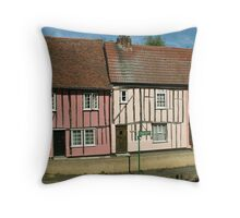 Riverside Cottages Throw Pillow