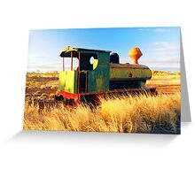 Out Of Steam Greeting Card