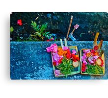 Bali offer Canvas Print