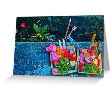 Bali offer Greeting Card