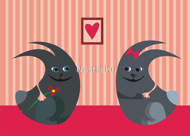 rabbits in love by Anastasiia Kucherenko