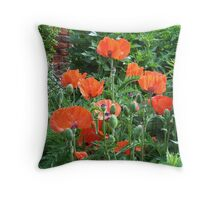 Garden of Poppies Throw Pillow