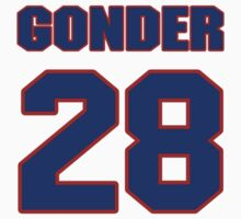 National baseball player Jesse Gonder jersey 28 by imsport