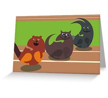 animal racing Greeting Card