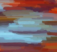 Colorful Painting Abstract Background by Nhan Ngo