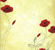 Golden Yellow Poppy Painting by Nathalie Van