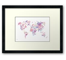 Continents Framed Print