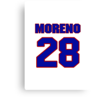 National baseball player Omar Moreno jersey 28 Canvas Print
