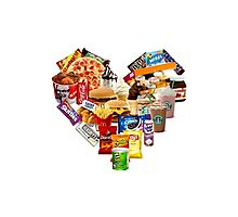 Junk Food Love Heart Photographic Print