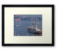 Monaco Harbour Framed Print