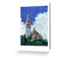 The California Building and Bell Tower by RD Riccoboni Greeting Card
