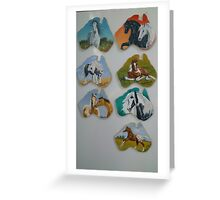 Hand painted equine fridge magnets in oils Greeting Card