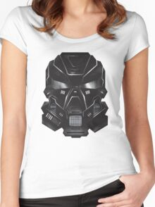 Black Metal Future Fighter Sci-fi Concept Art Women's Fitted Scoop T-Shirt