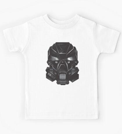 Black Metal Future Fighter Sci-fi Concept Art Kids Tee