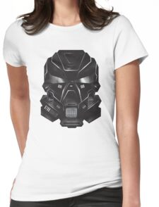 Black Metal Future Fighter Sci-fi Concept Art Womens Fitted T-Shirt