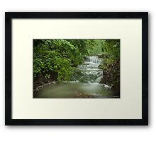 Fog Over a Waterfall Framed Print