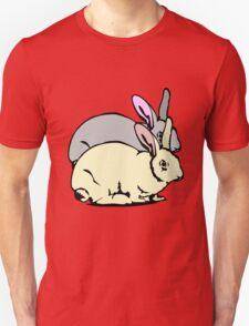 GREY RABBIT YELLOW RABBIT  Unisex T-Shirt